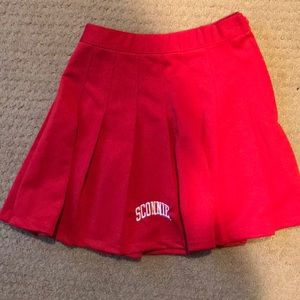 NWT WISCONSIN BADGER CHEER SKIRT S
